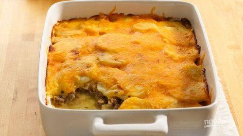 Картофельная запеканка с мясом простой рецепт