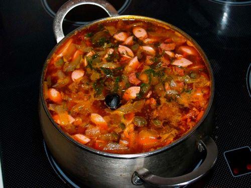 Рецепт солянки классической с колбасой с пошагово