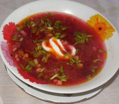 Рецепт свекольника горячего с мясом с фото пошагово