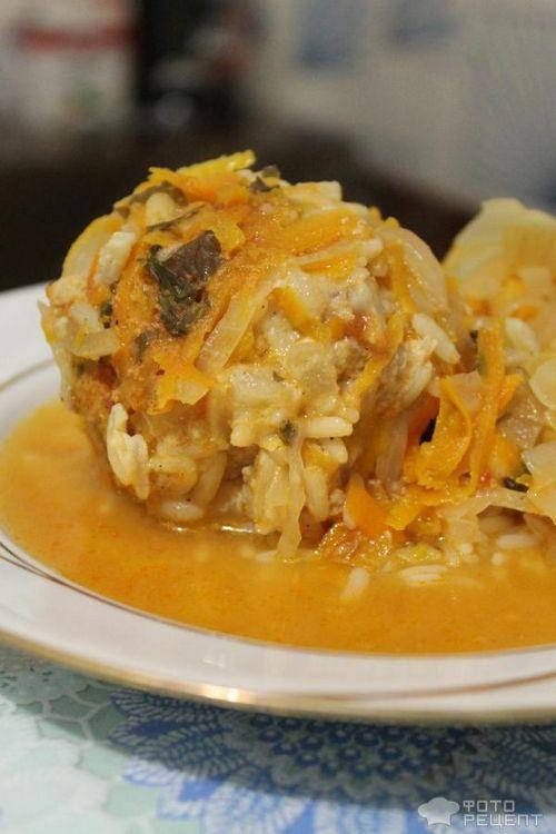 как приготовить тефтели с рисом с капустой