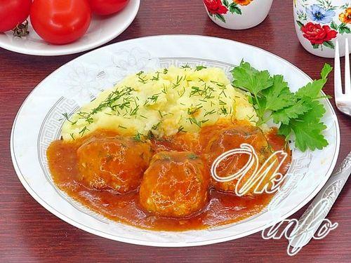 Тефтели с рисом в томатном соусе пошаговый рецепт с фото в мультиварке