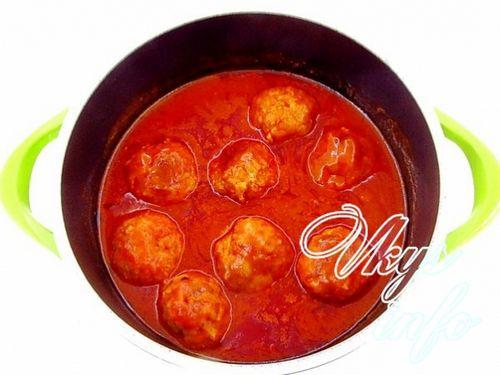 Рецепт говяжьих тефтелей в томатном соусе