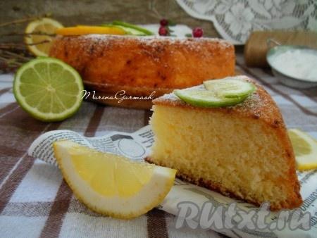 шарлотка с лимоном рецепт с фото